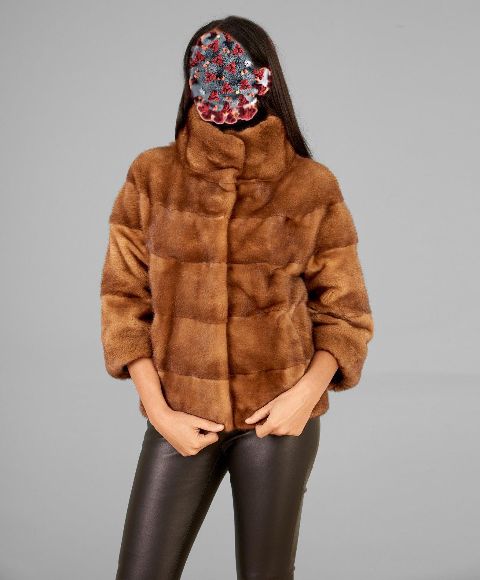 giacca-in-pelliccia-di-visone-collo-anello-colore-miele